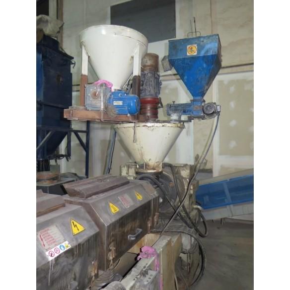 Extruder plastic for pelletizing