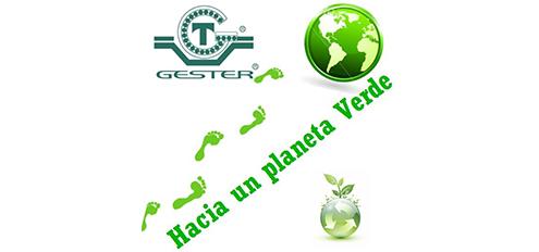 Hacia un planeta verde con Gester. Maquinas usadas más eficientes y sostenibles que ayudan a proteger el planeta.